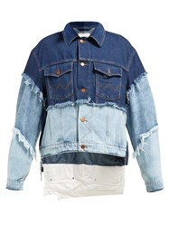 Natasha Zinko Oversized Layered Wash Cotton Denim Jacket Denim