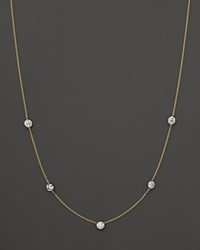 Bloomingdale's Diamond Station Necklace In 14K Yellow Gold 1.25 Ct. T.W. Yellow Gold White Diamonds