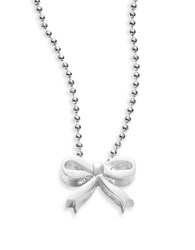 Alex Woo Little Princess Sterling Silver Bow Necklace