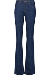 Iris And Ink Mid Rise Flared Jeans Blue