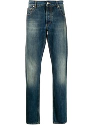 Alexander Mcqueen Faded Effect Straight Jeans 60
