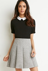 Forever 21 Scuba Knit Skater Skirt Heather Grey