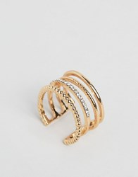 Designb London Cage Ring Gold