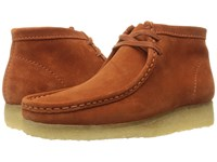 Clarks Wallabee Boot Rust Vintage Suede Men's Lace Up Boots Brown