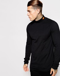Ellesse Re Issue Long Sleeve Roll Neck Black