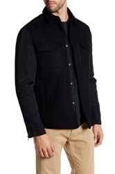 Kenneth Cole Collared Snap Button And Zip Jacket Black