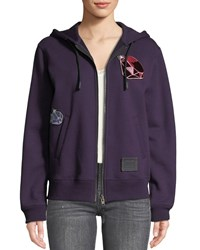 Coach Disney X Dopey Embroidered Graphic Hoodie Purple
