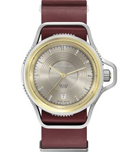 Givenchy Gy100181s15 Seventeen Stainless Steel Yellow Gold Plated And Leather Watch