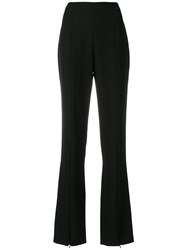 Courreges High Waisted Flared Trousers Black