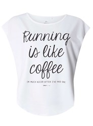 Dorothy Perkins Only Play Burnout Slogan T Shirt White