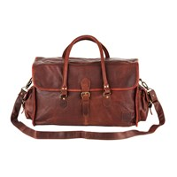 Mahi Leather Galley Bag Weekend Overnight Holdall In Vintage Brown