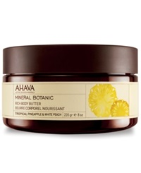 Ahava Mineral Botanic Tropical Pineapple And White Peach Rich Body Butter No Color