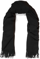 Acne Studios Canada Fringed Wool Scarf Black