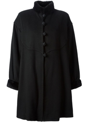 Yves Saint Laurent Vintage Cape Style Coat Black