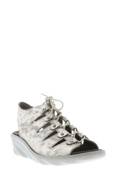 Wolky Arena Wedge Sandal Champagne Nubuck