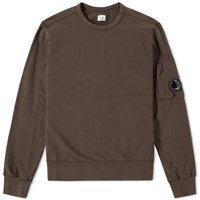 C.P. Company Arm Lens Crew Sweat Brown