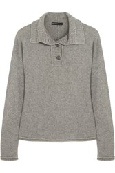 James Perse Henley Funnel Neck Cashmere Sweater