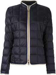 Fay Zip Up Puffer Jacket Blue