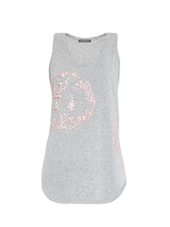 Alexander Mcqueen Embroidered Cotton Tank Top