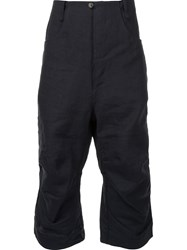 A Diciannoveventitre Cropped Drop Crotch Trousers Black