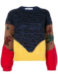 Toga Animal Print Jumper Blue
