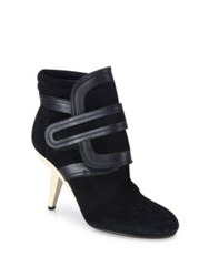 Marni Grip Tape Suede And Leather Booties Black