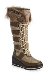 Cougar Lancaster Waterproof Snow Boot Oatmeal Fabric