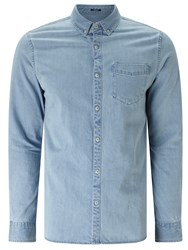 Denham Jeans Standard Dry Soft Denim Shirt Light Blue
