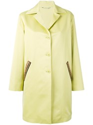 Etro Embroidered Pocket Coat Women Cotton Wool 44 Green