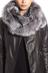 Women's Linda Richards Cashmere And Genuine Fox Fur Infinity Wrap
