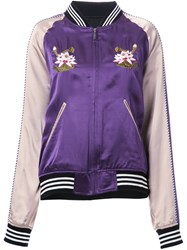 G.V.G.V. 'Satin Souvenir' Jacket Pink Purple