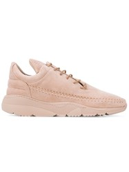 Filling Pieces Lace Up Suede Sneakers Men Leather Rubber 41 Pink Purple