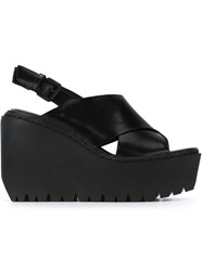 Opening Ceremony Wedge Sandals Black