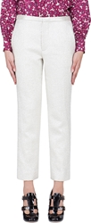 Marc Jacobs Ivory Lama Cropped Antonia Trousers