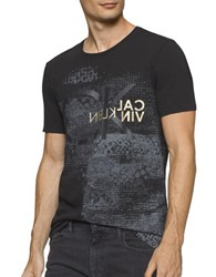 Calvin Klein Jeans Texture Patch V Neck Tee Black