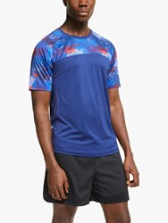 Ronhill Stride Revive Short Sleeve Running Top Midnight Blue Flame
