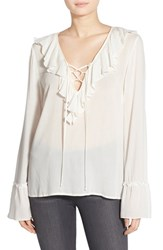 Women's Band Of Gypsies Ruffle Front Poet Blouse
