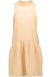 Elizabeth And James Trisha Cutout Crepe Mini Dress Pastel Yellow
