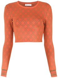 Spacenk Nk Knitted Cropped Top Orange