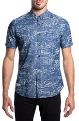 7 Diamonds Men's 'What A Feeling' Short Sleeve Denim Shirt