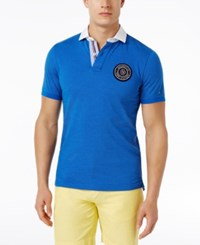Tommy Hilfiger Men's Mandell 8 Cotton Polo Nautical Blue