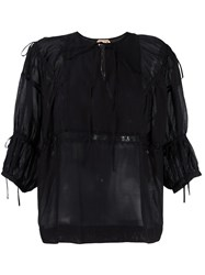 N 21 No21 Three Quarters Sleeve Blouse Black