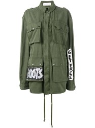 Faith Connexion Crown Tag Field Jacket Green
