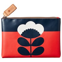 Orla Kiely Spring Flower Pouch Purse Bright Red