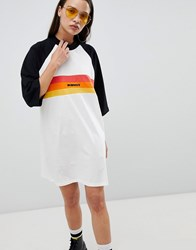 The Ragged Priest Oversize T Shirt Dress With Slogan Multi