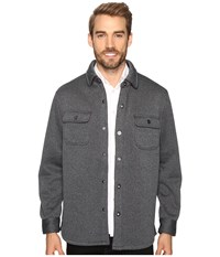Tommy Bahama Fireside Cpo Long Sleeve Knit Shirt Coal Men's Long Sleeve Button Up Gray
