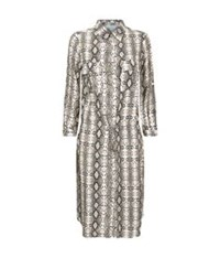 Melissa Odabash Snake Print Shirt Dress Multi