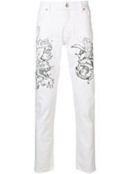 Jeckerson Printed Trousers White