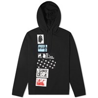 Raf Simons Regular Fit Patch Hoody Black