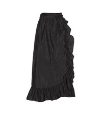 Isabel Marant Alda Silk Blend Wrap Skirt Black